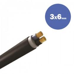 CABLE NYY J1VV-U 3X6MM2 - Eurolamp