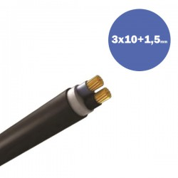 CABLE NYY J1VV-R 3X10+1.5MM2 (DRUM) - Eurolamp