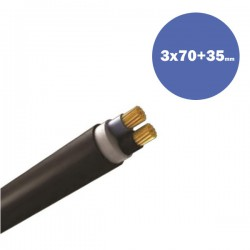 Cable NYY J1VV-R 3X70+35mm2 (DRUM)
