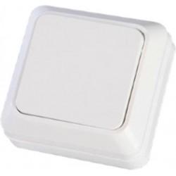 Διακόπτης Εξωτερικός Απλός ΜΙΝΙ Λευκός ΙΡ20 - Eurolamp
