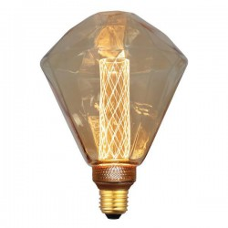 Λάμπα LED Διαμάντι G125 3,5W Ε27 2000K 220-240V GOLD GLASS DIMMABLE - Eurolamp