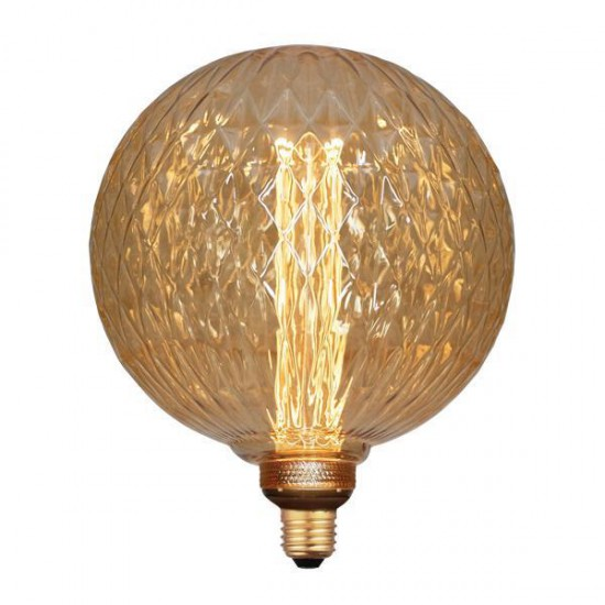 LED Lamp G200 3,5W Ε27 2000K 220-240V GOLD GLASS DIMMABLE - Eurolamp