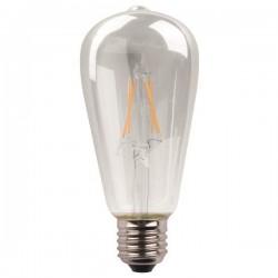 Λάμπα LED ST64 CROSSED FILAMENT 11W E27 4000K 220-240V DIMMABLE CLEAR - Eurolamp