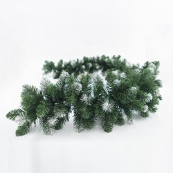 GREEN BRANCH WITH SNOWY PICKS, 200CM - Magic Christmas