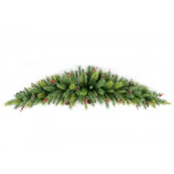 GREEN BRANCH, ON HORN SHAPE, MIXED, 180CM - Magic Christmas