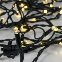 Βροχή 144 LED 5m Επεκτεινόμενα Με Πράσινο Καλώδιο Αδιάβροχα IP44 Χάλκινο Λευκό 2200K Magic Christmas