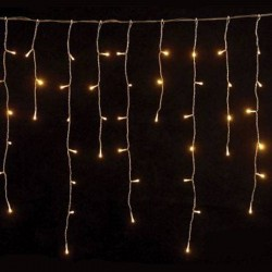Icicle 144 LED 3m With Connector With Green Cable IP44 2200K Magic Christmas