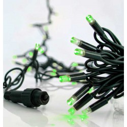 100 LED Σε Σειρά Με Επέκταση Και Καουτσούκ Πράσινο Καλώδιο Αδιάβροχα IP65 - Πράσινο Magic Christmas