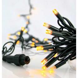 100 LED Σε Σειρά Με Επέκταση Και Καουτσούκ Πράσινο Καλώδιο Αδιάβροχα IP65 - Χάλκινο Λευκό 2100K Magic Christmas