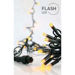 100 LED Σε Σειρά Με Επέκταση Και Καουτσούκ Πράσινο Καλώδιο Αδιάβροχα IP65 - Θερμό Λευκό 2700K Magic Christmas