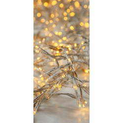 1152 LED Cluster String Light With Program And Transparent Cable IP44 2500K Magic Christmas