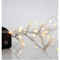 100 LED String Light With Program And Transparent Cable IP44 2200K Magic Christmas