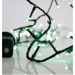 100 LED String Light With Program And Green Cable IP44 Magic Christmas