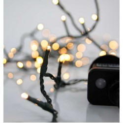 100 LED String Light With Program And Green Cable IP44 2200K Magic Christmas