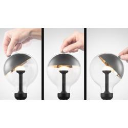 """Λάμπα LED """"MOVE ME"""" Γλόμπος G120 E27 5,5W 2700K 220-240V Μαύρο / Ασημί - Eurolamp"""