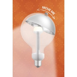 "LAMP LED ""MOVE ME"" G120 E27 5,5W 2700K 220-240V SILVER/SILVER - Eurolamp"