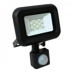Προβολέας LED SMD Με Περιστρεφόμενο Ανιχνευτή Κίνησης PLUS 10W Μαύρος IP44 PLUS - Eurolamp