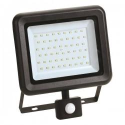 Προβολέας LED SMD Με Περιστρεφόμενο Ανιχνευτή Κίνησης PLUS 50W Μαύρος IP44 PLUS - Eurolamp