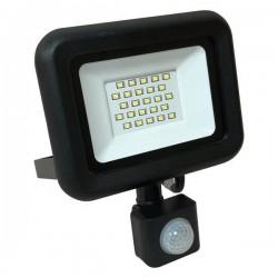 Προβολέας LED SMD Με Περιστρεφόμενο Ανιχνευτή Κίνησης PLUS 20W Μαύρος IP44 PLUS - Eurolamp