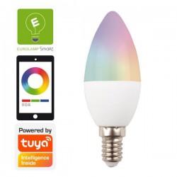 Λάμπα LED SMART WIFI Κερί 6W E14 RGBW 220-240V TUYA - Eurolamp