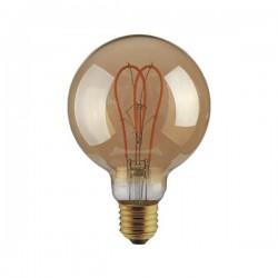 """Λάμπα LED G125 Filament """"Decor"""" 5W E27 2000K 220-240V DIMMABLE GOLD Eurolamp"""