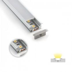 Aluminum Profile Recessed Single 90° - Eurolamp