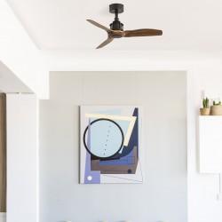 Black/wood Ceiling Fan 81cm Ø810 JUST FAN - FARO