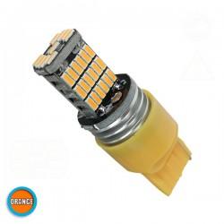 Λαμπτήρας LED T20 7440 με 45 SMD Can Bus 10-30v 4014 Πορτοκαλί GloboStar