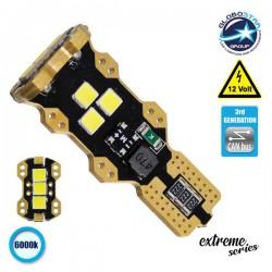 Λαμπτήρας LED T10 Extreme Series Can-Bus 3ης Γενιάς 3w 12V Ψυχρό Λευκό 6000k GloboStar