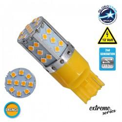Λαμπτήρας LED Extreme Series Can-Bus 2ης Γενιάς με βάση T20 7440 17W 12v Πορτοκαλί για Φλας GloboStar