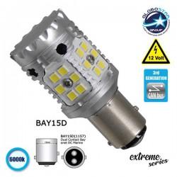 Extreme Series LED Lamp Can-Bus 3rd Generation based on 1157 28W 12v Cold White 6000k GloboStar