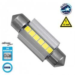 Σωληνωτός LED Extreme Series Can-Bus 3ης Γενιάς 36mm 3.6w 12V Ψυχρό Λευκό 6000k GloboStar