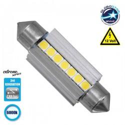 Σωληνωτός LED Extreme Series Can-Bus 3ης Γενιάς 39mm 3.8w 12V Ψυχρό Λευκό 6000k GloboStar