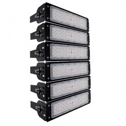 Field Lighting - Tunnel Projector GOLIATH Philips LumiLED 300W 136LM/W 40800LM  75 ° * 135 ° Degrees AC100-277V MeanWell Driver 5YEARS WARRANTY Waterproof IP65 Cool White 6000k GloboStar