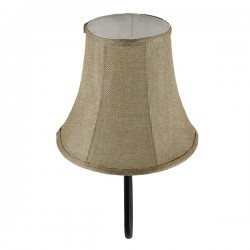 Vintage Φωτιστικό Τοίχου Μεταλλικό Με Υφασμάτινο Καπέλο - Φ20 1x E27