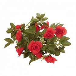 Τεχνητό Κρεμαστό Φυτό Διακοσμητική Γιρλάντα Μήκους 2.2 μέτρων με 10 X Μεγάλα Τριαντάφυλλα Κόκκινα GloboStar