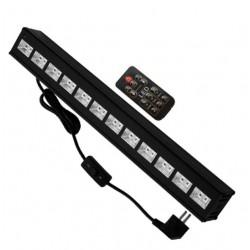 LED Μπάρα Φωτισμού UV 50cm 36W 230V 120° DMX512 με Ασύρματο Χειριστήριο Black Light GloboStar
