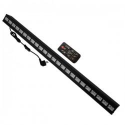 LED Μπάρα Φωτισμού UV 100cm 72W 230V 120° DMX512 με Ασύρματο Χειριστήριο Black Light GloboStar