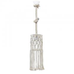Φωτιστικό Οροφής Χειροποίητο Μονόφωτο Μακραμέ Φ15cm 1x E27 MAC-02 - Heronia Lighting
