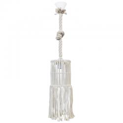 Φωτιστικό Οροφής Χειροποίητο Μονόφωτο Μακραμέ Φ15cm 1x E27 MAC-03 - Heronia Lighting