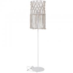 Δαπέδου Φωτιστικό Χειροποίητο Μακραμέ Με Μεταλλική Βάση Λευκή 1x E27 MAC-02 - Heronia Lighting