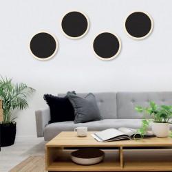 LED Aluminum Wall Lamp In Black Shade 6.7W - InLight