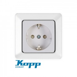 Earthed Socket Outlet With Shutter IN Various Colors 16A 250V HK02 - Kopp