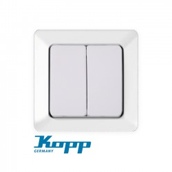A/R Double Switch In Various Colors 10A 250V HK02 - Kopp