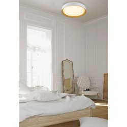 LED Ceiling Light Aluminum With Wood - 72W 5760lm Bong LUCIDO