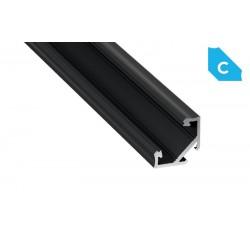 Aluminum Profile EL CORNER C Black - LUMINES