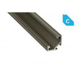 Aluminum Profile EL CORNER C Bronze - LUMINES