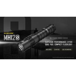 Flashlight LED NITECORE MULTI TASK HYBRID MH12S,1800lumens