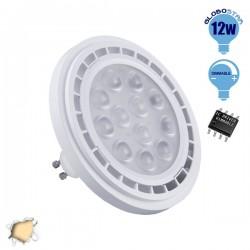 Λάμπα LED AR111 GU10 Σποτ 12W 230V 1160lm 36° Θερμό Λευκό 3000k Dimmable GloboStar