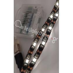 LED Ταινία Με Μπαταρία - 7.2W 3500K 5V, 3xAA